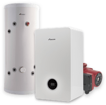 Gas Boiler and Hot Water Tank