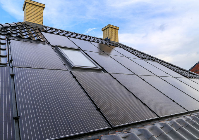 GSE in roof solar panel system
